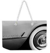 1954 Chevrolet Corvette Wheel Emblem -282bw Weekender Tote Bag