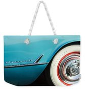 1954 Chevrolet Corvette Wheel Emblem -282c Weekender Tote Bag