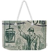 1954 Czechoslovakian Construction Worker Stamp Weekender Tote Bag