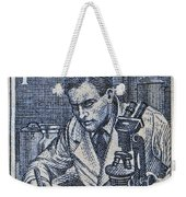 1954 Czechoslovakian Scientist Stamp Weekender Tote Bag