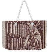 1954 Czechoslovakian Textile Worker Stamp Weekender Tote Bag
