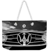 1954 Maserati A6 Gcs Grille Emblem -0259bw Weekender Tote Bag