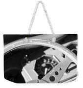 1954 Mg Tf Steering Wheel Emblem -0920bw Weekender Tote Bag
