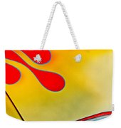 1954 Studebaker Champion Coupe Hot Rod Red With Flames - Grille Emblem Weekender Tote Bag