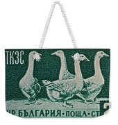 1955 Bulgarian Geese Stamp Weekender Tote Bag