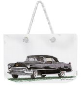1955 Cadillac Series 62 Convertible Weekender Tote Bag