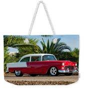 1955 Chevrolet 210 Weekender Tote Bag