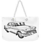 1955 Chevrolet Bel Air Illustration Weekender Tote Bag