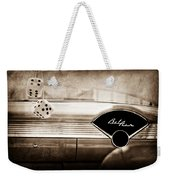 1955 Chevrolet Belair Dashboard Emblem Weekender Tote Bag