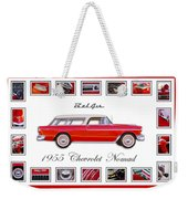1955 Chevrolet Belair Nomad Art Weekender Tote Bag