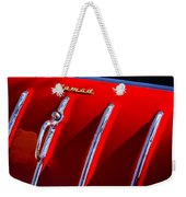 1955 Chevrolet Belair Nomad Hood Ornament -559c Weekender Tote Bag