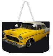 1955 Chevy Bel Air Harvest Gold Weekender Tote Bag