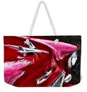 1955 Chevy Bel Air Hood Ornament Weekender Tote Bag