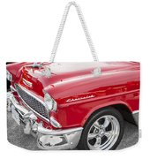 1955 Chevy Cherry Red Weekender Tote Bag