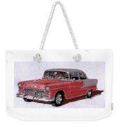 1955 Chevy Post Streeter Weekender Tote Bag