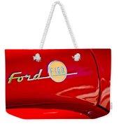 1955 Ford F-100 Pickup Truck Side Emblem -3515c Weekender Tote Bag