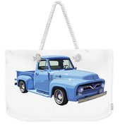 1955 Ford F100 Blue Pickup Truck Canvas Weekender Tote Bag