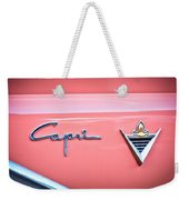 1955 Lincoln Capri Emblem 2 Weekender Tote Bag