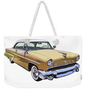 1955 Lincoln Capri Fine Art Illustration  Weekender Tote Bag