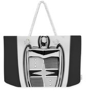1955 Lincoln Indianapolis Boano Coupe  Emblem -0283bw Weekender Tote Bag