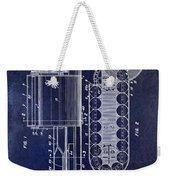 1955 Rocket Launcher Patent Drawing Blue Weekender Tote Bag