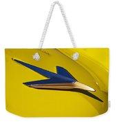 1955 Studebaker President Starlighter Hood Ornament Weekender Tote Bag