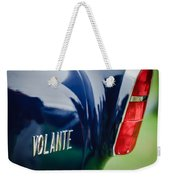 1956 Aston Martin Short Chassis Volante Taillight Emblem Weekender Tote Bag