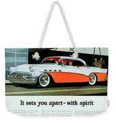 1956 - Buick Roadmaster Convertible - Advertisement - Color Weekender Tote Bag