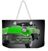 1956 Buick Special Riviera Coupe-green Weekender Tote Bag