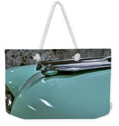 1956 Cadillac Lasalle Hood Ornament Weekender Tote Bag