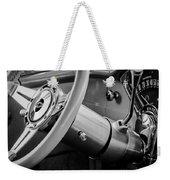 1956 Chevrolet 210 2-door Handyman Wagon Steering Wheel Emblem -189bw Weekender Tote Bag