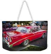 1956 Chevrolet Bel Air 210 Weekender Tote Bag