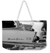 1956 Chevrolet Belair Nomad Rear End Emblem Weekender Tote Bag