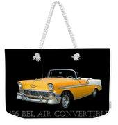 1956 Chevy Bel Air Convertible Weekender Tote Bag