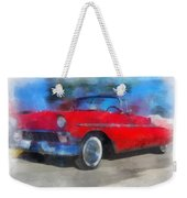 1956 Chevy Car Photo Art 01 Weekender Tote Bag