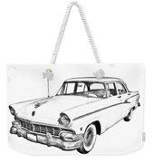 1956 Ford Custom Line Antique Car Illustration Weekender Tote Bag