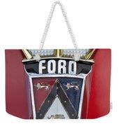 1956 Ford Fairlane Emblem Weekender Tote Bag