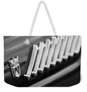 1956 Ford Thunderbird Emblem -278bw Weekender Tote Bag
