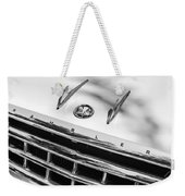 1956 Hudson Rambler Station Wagon Grille Emblem - Hood Ornament Weekender Tote Bag by Jill Reger