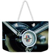 1956 Lincoln Continental Mark II Hess And Eisenhardt Convertible Steering Wheel Emblem Weekender Tote Bag