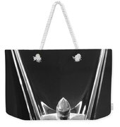 1956 Lincoln Premiere Convertible Hood Ornament 2 Weekender Tote Bag