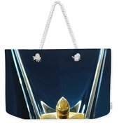 1956 Lincoln Premiere Convertible Hood Ornament Weekender Tote Bag