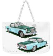 1956 Studebaker Coming And Going Weekender Tote Bag
