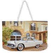 1956 Thunderbird At Palm Beach  Classic Vintage Ford Art Sketch Rendering          Weekender Tote Bag