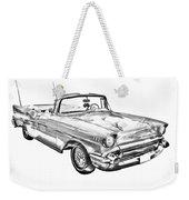 1957 Chevrolet Bel Air Convertible Illustration Weekender Tote Bag