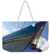 1957 Chevrolet Bel Air Fin Weekender Tote Bag