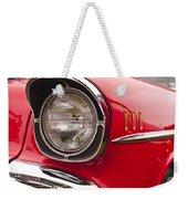 1957 Chevrolet Bel Air Headlight Weekender Tote Bag