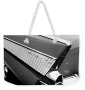 1957 Chevrolet Belair Convertible Taillight Emblem Weekender Tote Bag