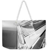 1957 Chevrolet Belair Coupe Tail Fin -019bw Weekender Tote Bag