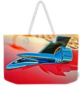 1957 Chevrolet Belair Hood Ornament Weekender Tote Bag